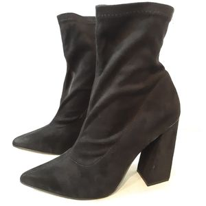 Boohoo Faux Suede Ankle Boots